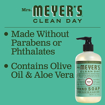 Mrs. Meyer's Clean Day Hand Soap, Basil Scent, 370 mL  370ML