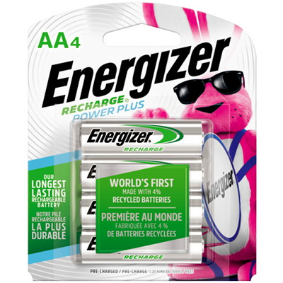 Piles rechargeables NiMH Energizer AA NIMH  4/PAQUET HYBRIDE NICKEL/METAL