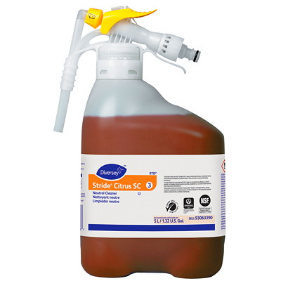 Diversey Stride Citrus Neutral Cleaner, RTD (Ready-to-Dispense), 5 L 5L  READY TO DISPENSE