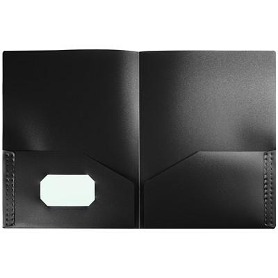 "Winnable 2-Pocket Portfolio, Black, Letter Size LETTER  12""X9"" OPAQUE  0.4MM  BLACK"