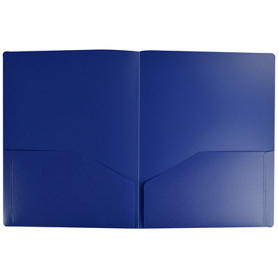 Winnable 2-Pocket Portfolio, Blue, Letter Size  LETTER OPAQUE  0.4MM  BLUE