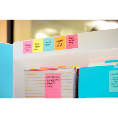 "Post-it Super Sticky Notes, Neon Pink, 3"" x 3"", 70 Sheets/Pad, 5 Pads/PK 654-5SSNP-C NEON PINK 3INX3IN (76MMX76MM)"
