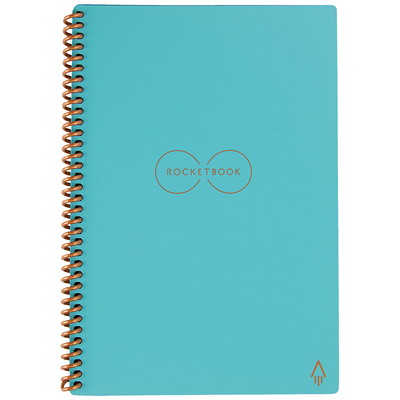 "RocketBook Everlast Executive Notebook, Teal, 6"" x 8 4/5"", 32 Pages   SMART REUSABLE NOTEBOOK 6X8.8 SEND NOTES TO CLOUD SERVICES"