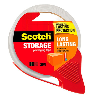 Scotch Long Lasting Storage Packaging Tape with Dispenser, 48 mm x 35 m, 2 Rolls 2/PACK W/DISP 48MMX50M