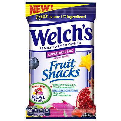 Welch's Fruit Snacks, Superfruit Mix, 60 g, 48/CT 48/CT