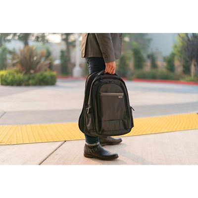 "Kensington Contour 2.0 Executive Laptop Backpack, Black, Fits laptops up to 17""  ERGONOMIST-APPROVED DESIGN LOCKABLE ZIPPER"