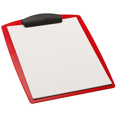 Storex Heavy-Duty Poly Clipboard, Red, Letter Size LETTER