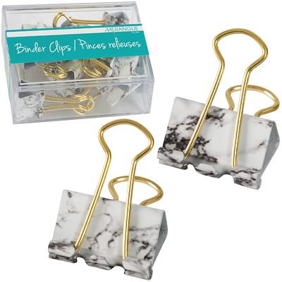 "Merangue Marble Binder Clips, 1"", 12/PK 12 PACK MARBLE BINDER CLIPS SIZE 25MM"