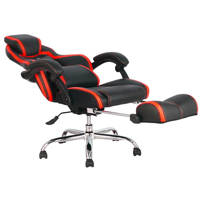 TygerClaw Executive High-Back Office Chairs, Black/Red, PU Leather  RED DURABLE SMOOTH PU&PVC LEATHER