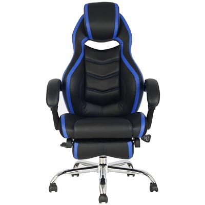 TygerClaw Executive High-Back Office Chairs, Black/Blue, PU Leather  BLUE DURABLE SMOOTH PU&PVC LEATHER