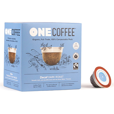 One Coffee Single-Serve Coffee Pods, Decaffeinated, 18/BX  COFFEE PODS