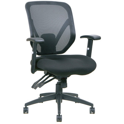Tygerclaw Office Chair Mid Back Black
