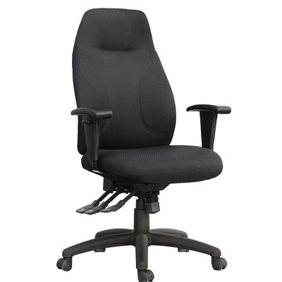 TygerClaw Executive Office Chair, High-Back, Black, Fabric  BLACK DURABLE BLACK FABRIC