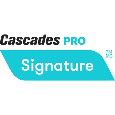 Cascades PRO Signature 2-Ply Standard Bathroom Tissue, White, 400 Sheets/RL, 48/CS 2 PLY  400 SHEETS  48/CASE
