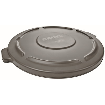 Rubbermaid Commercial Brute Self-Draining Lid For 32-Gallon Container, Grey GRAY
