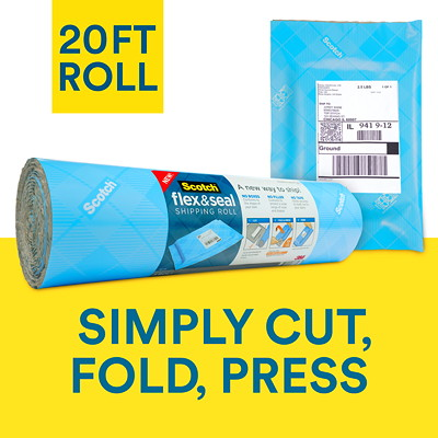 "Scotch Flex and Seal Shipping Roll, Blue, 15"" x 20' 15 IN X 20 FT (381MMX6.09M)"