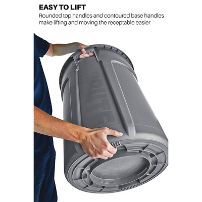 Rubbermaid Commercial Brute Vented 20-Gallon Container, Grey GRAY