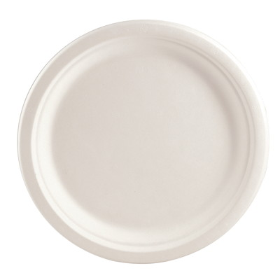 Assiettes rondes Eco Guardian, blanc, 9 po, emb. de 50 NATURAL PK / 50