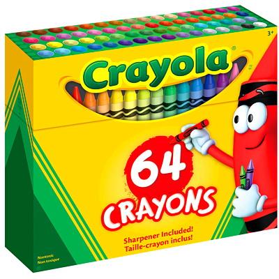 Crayola Crayons, Assorted Colours, 64/PK