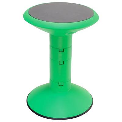 Storex Wiggle Stool, Green  GREEN ADJUSTABLE HEIGHT
