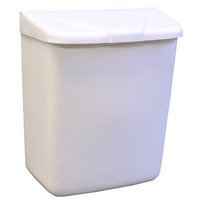 Hospeco Feminine Hygiene Waste Receptacle, White Plastic - Only available in British Columbia WHITE PLASTIC