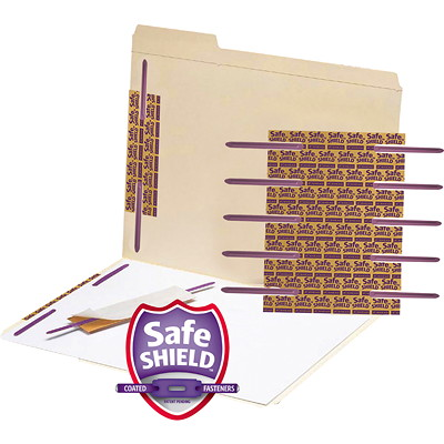 "SMEAD SHIELD METAL FASTENER 2"" SAFESHIELD COATED FASTENER 2"" CAPACITY/PURPLE"