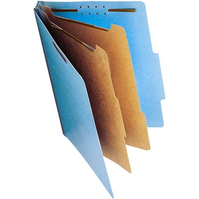 """Chemises de classement à deux intercalaires en carton comprimé Smead, bleu, format légal, boîte de 10 2 DIVIDERS/2"""" EXPANSION BLUE LEGAL SIZE/BLUE"""