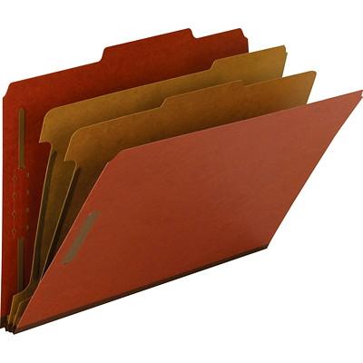"""Chemises de classement à deux intercalaires en carton comprimé Smead, rouge, format légal, boîte de 10 2 DIVIDERS/2"""" EXPANSION RED LEGAL SIZE/RED"""