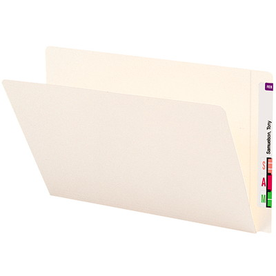 Smead End Tab Heavyweight File Folders, Ivory, Legal Size, 50/BX STRAIGHT-CUT EXTENDED TAB LEGAL SIZE/IVORY