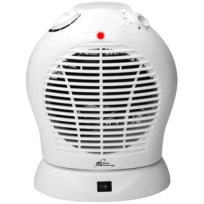 Royal Sovereign HFN-30 Oscillating Fan Heater, 2 Heat Settings, White 2 HEAT SETTINGS MANUAL THERMOSTAT