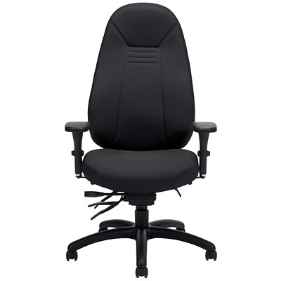 Global ObusForme Comfort High-Back Multi-Tilter Chair, With Schukra, Black Echo Fabric  HIGH BACK MULTI-TILTER  SCHUKR FULLY ASSEMBLED