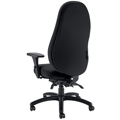 Global ObusForme Comfort High-Back Multi-Tilter Chair, With Schukra, Black, Echo Fabric  HIGH BACK MULTI-TILTER  SCHUKR FULLY ASSEMBLED