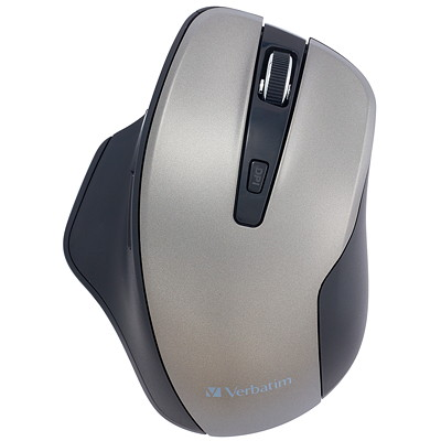 Verbatim Silent Ergonomic Wireless Blue LED Mouse - mouse - 2.4 GHz - graphite GRAPHITE