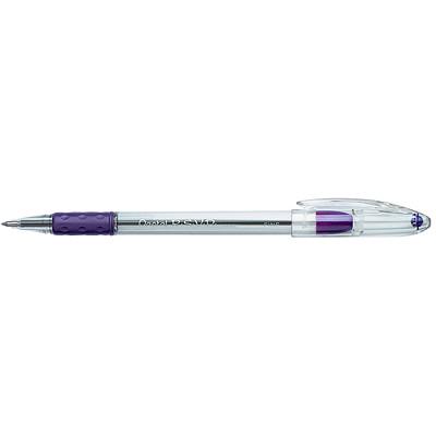 Pentel R.S.V.P. Ballpoint Stick Pens, Violet, Fine 0.7 mm, 12 EA/BX USES BKL7-V REFILL  R.S.V.P. W/COMFORT GRIP VIOLET INK