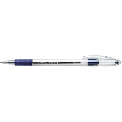 Pentel R.S.V.P. Ballpoint Stick Pens, Blue, Fine 0.7 mm, 12 EA/BX USES BKL7-C REFILL  R.S.V.P. W/COMFORT GRIP REPLC BPSGPF-BE
