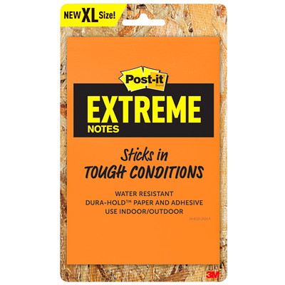 "Post-it Extreme XL Notes, Orange and Yellow, 4 1/2"" x 6 3/4"", 25 Sheets/Pad, 2 Pads/Pk EXT456-2TYMX-C 4.5 IN X 6.75 IN"