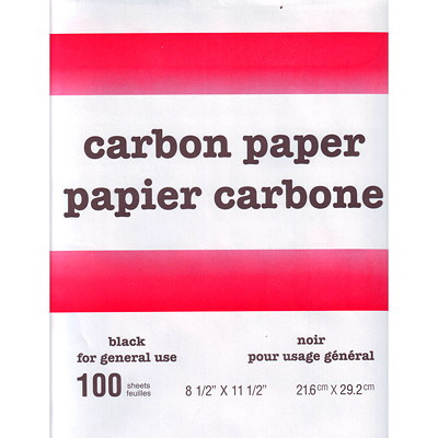 """Form-Mate Carbon Paper, Black, 8 1/2"""" x 11 1/2"""", 100/PK ALL PURPOSE COATED BACK PRE- VENTS CURLING FORM-MATE"""
