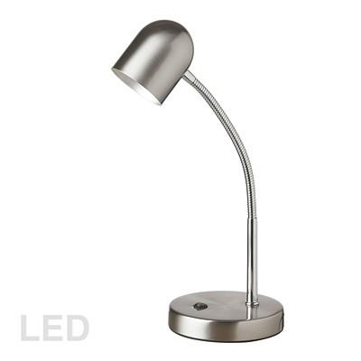 Dainolite 5W LED Table Lamp, Chrome SATIN CHROME FINISH LED