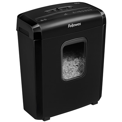 "Fellowes 6M Shredder, Micro-Cut, 6-Sheet Capacity, P-4 Level (46317) P4. 8 75"" THROAT. 3.5 GAL 5 MIN ON/30 MIN OFF.300' T/PUT"