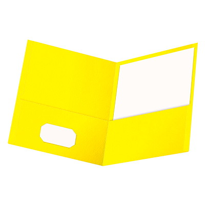 Chemises à deuxpochettes au fini gaufré Oxford, jaune, format lettre JAUNE LETTRE