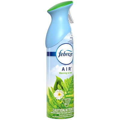Febreze AIR Aerosol Deodorizer, Morning and Dew Scent, 250 g