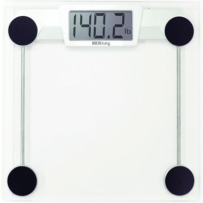 Pèse-personne numérique en verre BIOS Living CAPACITé DE 330 LB / 150 KG VERRE TREMPé DURABLE