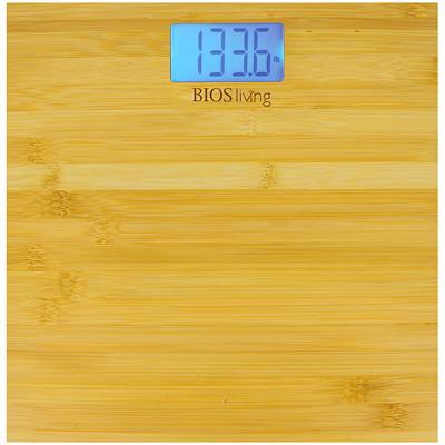 BIOS Living Slim Bamboo Digital Scale 396 LBS CAPACITY 2.9  X 1   / 7.4 X 3.8 CM