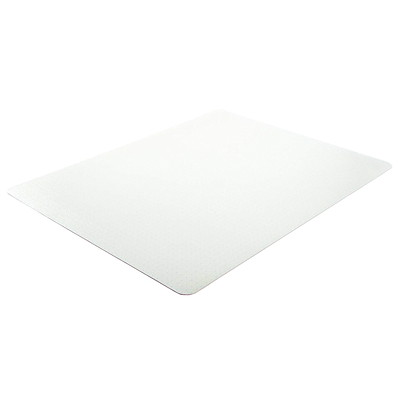 "Deflecto EconoMat Studded-Back Vinyl Chairmat for Low Pile Carpets, Clear, 46"" x 60"" (CM11442F) FOR LOW PILE CARPET W/O PADDNG CLEAR VINYL"