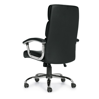 Offices To Go Ashton High-Back Tilter Chair, Black Luxhide Bonded Leather Seat and Back HIGH BACK TILTER LUXHIDE BONDED LEATHER  BLACK