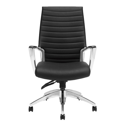 Global Accord Tilter Executive Chair, High Back, Black Ink, Allante FRee Fabric HIGH BACK TILTER ALLANTE FREE FABRIC  INK