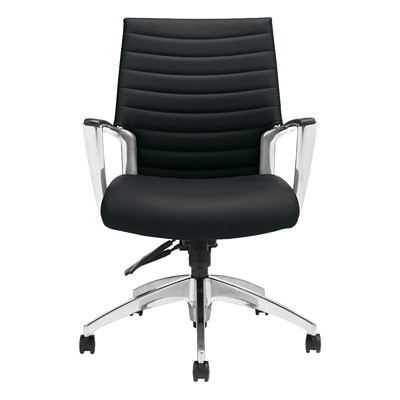 Global Accord Tilter Executive Chair, Mid Back, Black Ink, Allante FRee Fabric MEDIUM BACK TILTER ALLANTE FREE FABRIC  INK