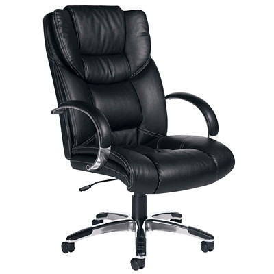 Offices To Go High-Back Executive Tilter Chair, Black, Luxhide Bonded Leather HIGH BACK TILTER LUXHIDE BONDED LEATHER  BLACK