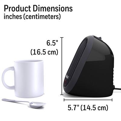 Honeywell HeatBud Personal Ceramic Heater, Black PERSONAL HEATER  BLACK 170 WATT TO 250 WATTS