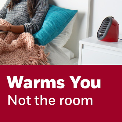 Honeywell HeatBud Personal Ceramic Heater, Red PERSONAL HEATER  RED 170 WATT TO 250 WATTS